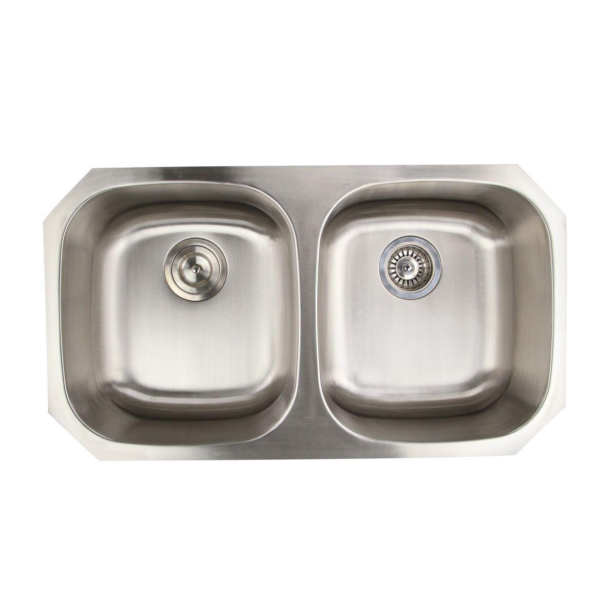 16 Gauge Double Equal Bowl 50 50 Ratio Undermount Kitchen Sink
