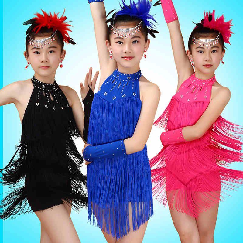 2dc84c711 Children Long Sleeve Ballet Dance Dress For Girls Cha-Cha Kid ...