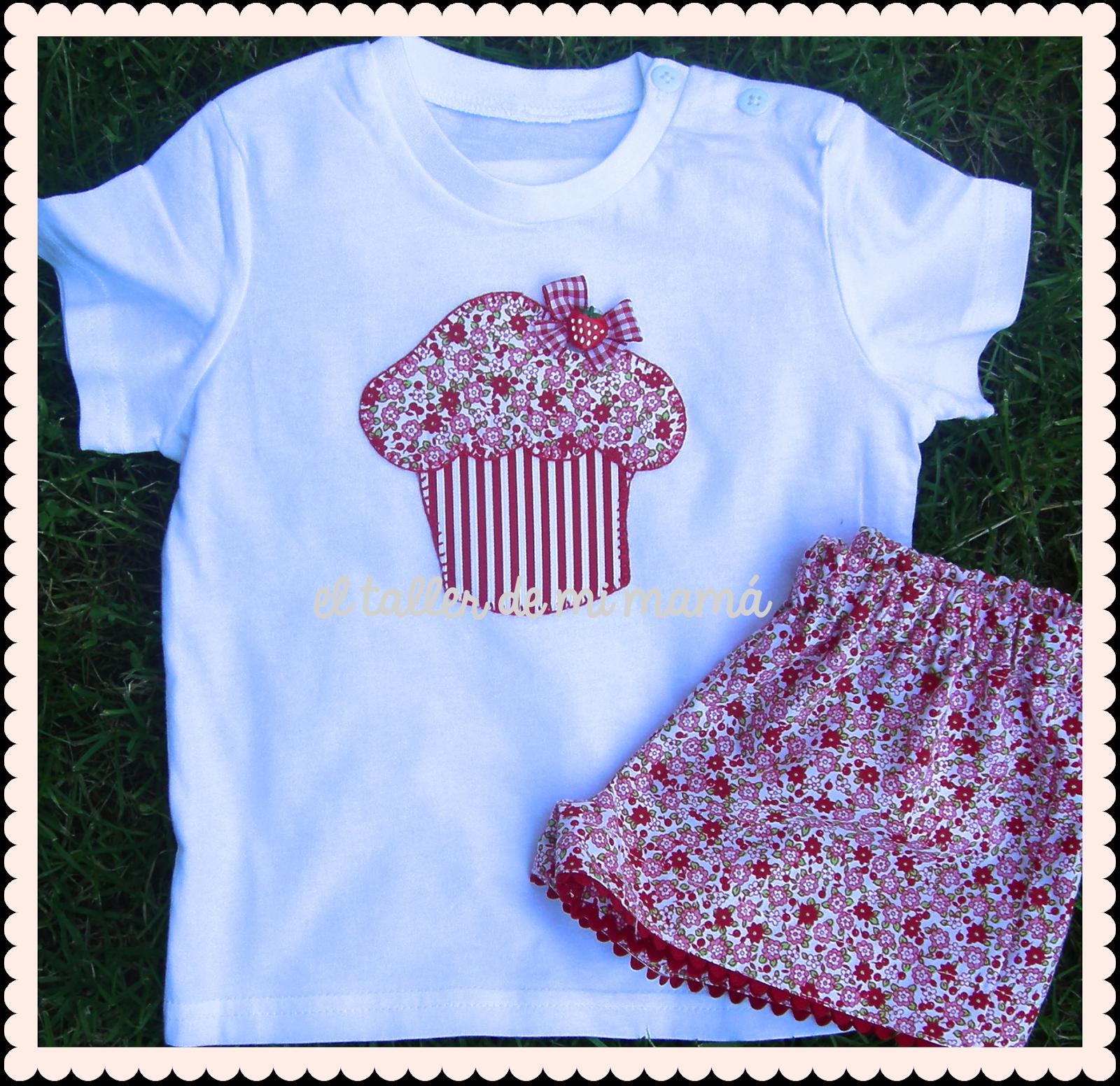 c647ed10b Conjunto para niña de flores rojas con diseño de magdalena