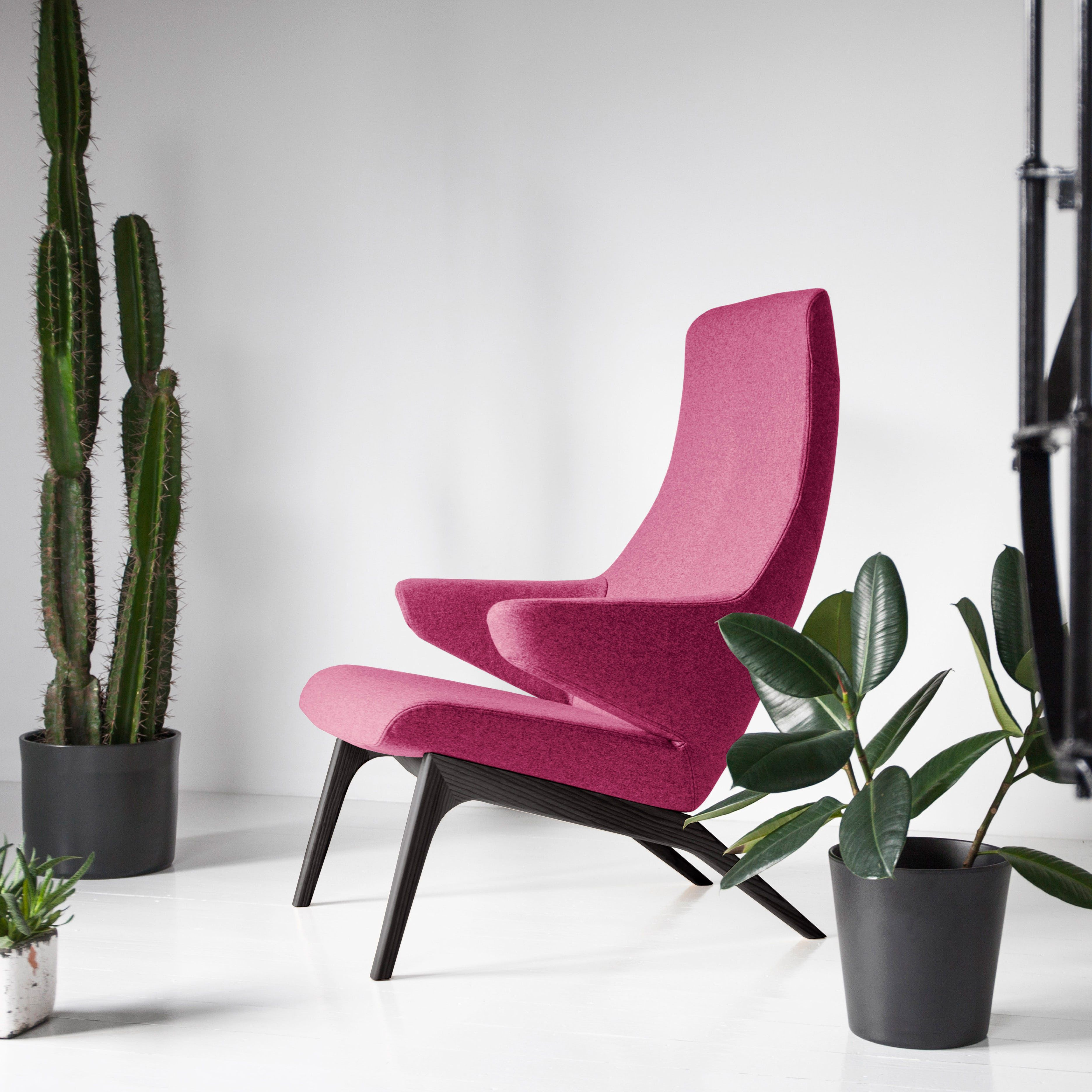 Shop Armchair VOOG, Fabric WOOLY+, Colour Cerise On