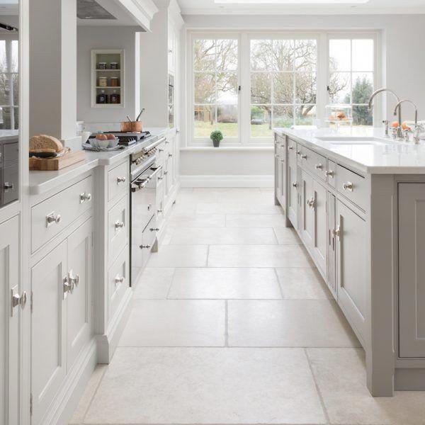 Babington Limestone Tumbled Natural Stone Flooring Hm Stone Library Kitchenflooringideas White Tile Kitchen Floor Kitchen Interior Interior Design Kitchen