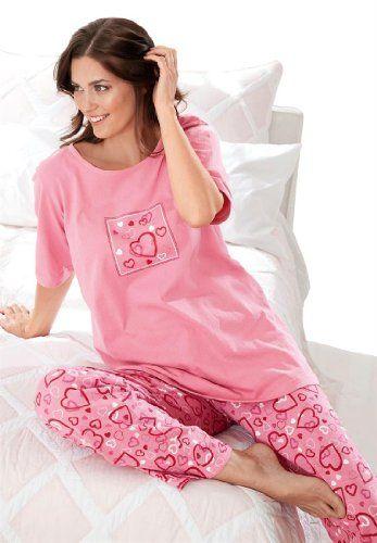 6c9871c819 Women s Plus Size Cotton knit pajamas Dreams   Co® (ROSE - deal coupon