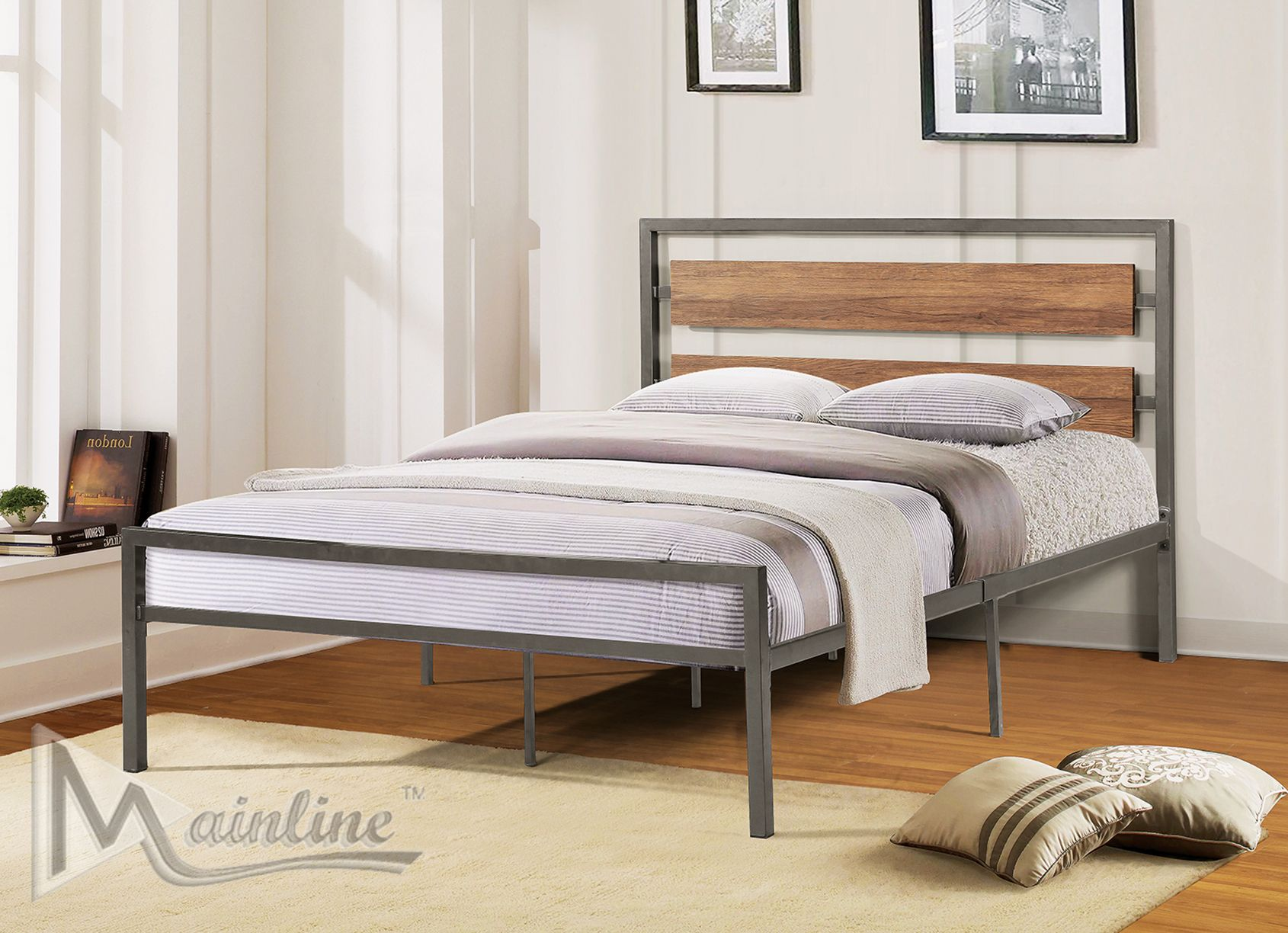 Gridiron Twin Size Bed In 2020 Bed Queen Size Bedding Platform Bed
