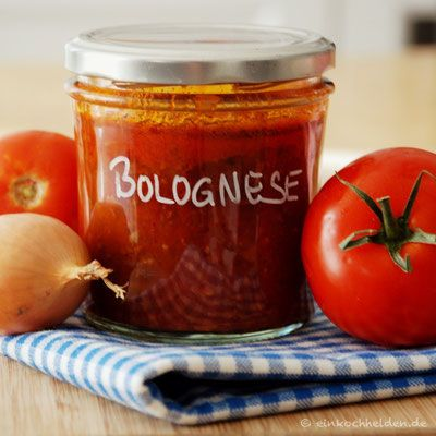 Das Rezept: Sauce Bolognese - Einkochen, Einwecken - Einkochhelden Rezepte und Anleitungen #bolognesesauce