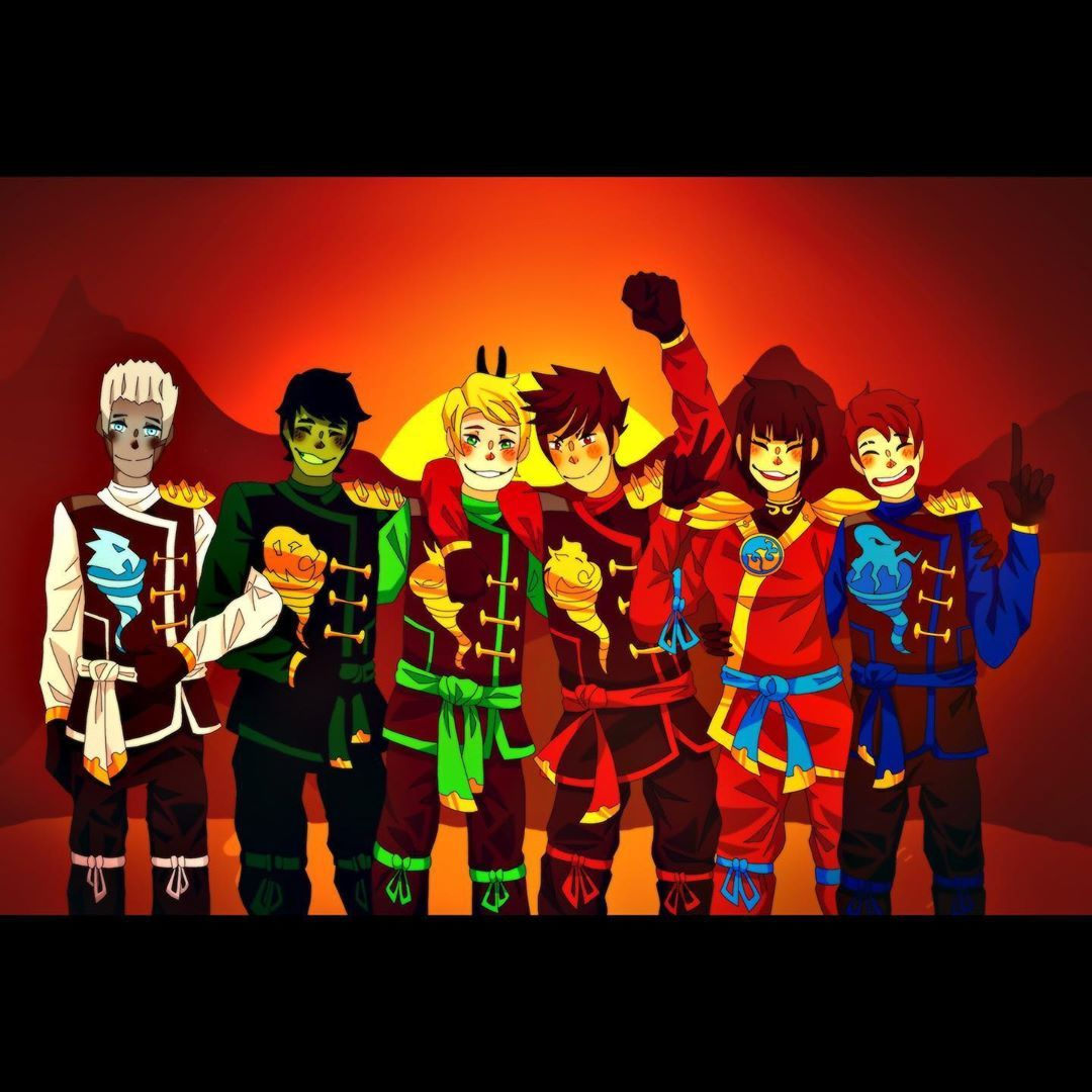 The Whole Gang Together Man I Love This Show Too Much Art Digitalart Legoninjago Squadart Squadgoals Comic Book Cover Lego Ninjago Comic Books
