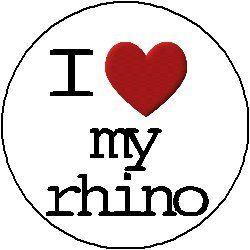 "I LOVE / HEART MY RHINO 1.25"" Pinback Button Badge / Pin A&T Designs http://www.amazon.com/dp/B00635JZKC/ref=cm_sw_r_pi_dp_1rZ.vb1RV0CC5"