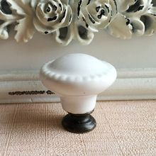 28mm Ceramic Cabinet S White On Cupboard Closet Dresser Handles Pulls Kitchen Bedroom Furniture Marble