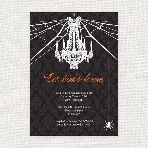 Free Printable Halloween Invitation Templates Halloween - Free Printable Dinner Party Invitations