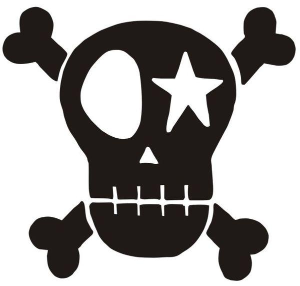 Skull schwarz Velours zum Aufbügeln Kindergeburtstag