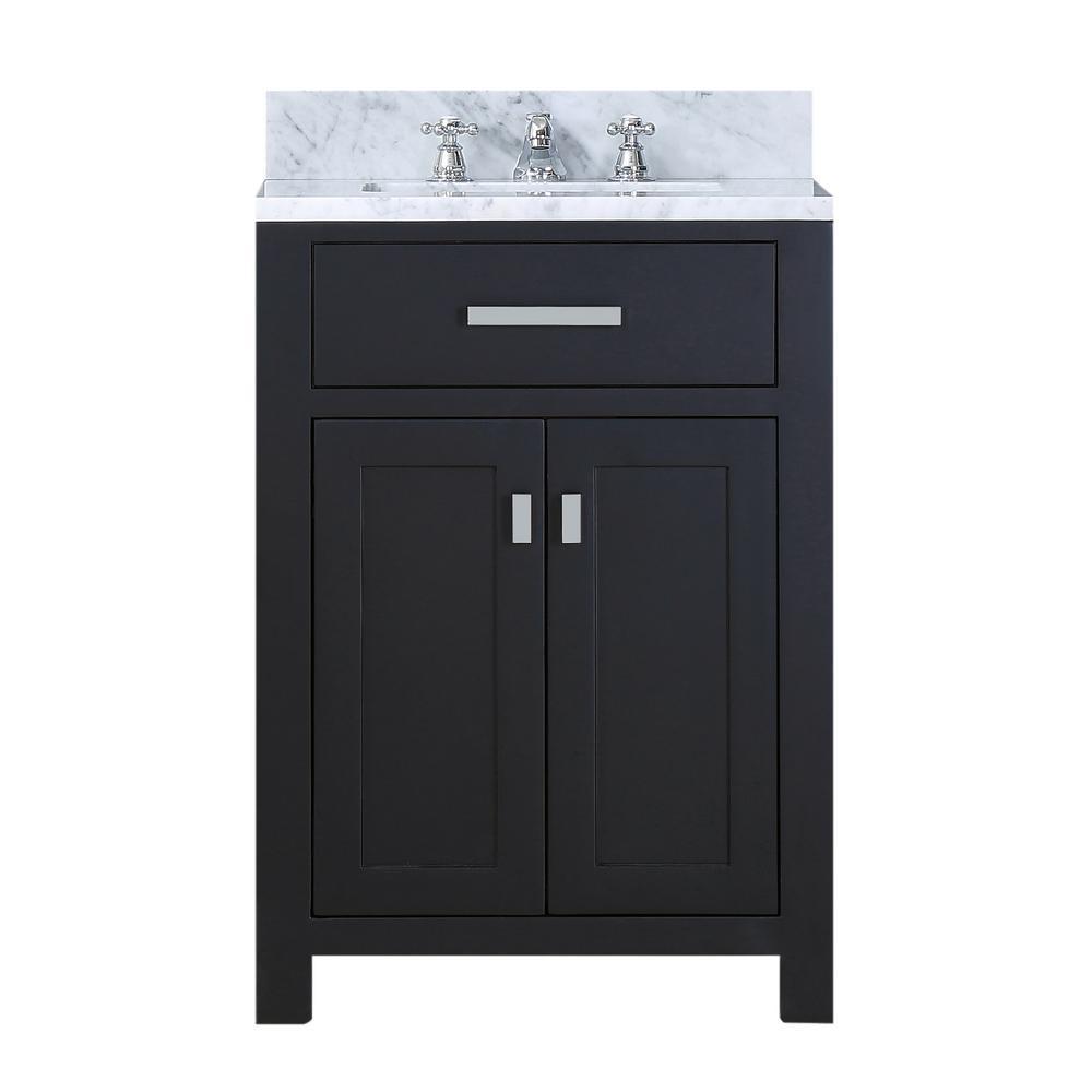 Water Creation 24 In Vanity In Espresso With Marble Vanity Top In Carrara White Madison 24e The Home Depot Bathroom Sink Vanity Single Sink Bathroom Vanity Marble Vanity Tops [ 1000 x 1000 Pixel ]