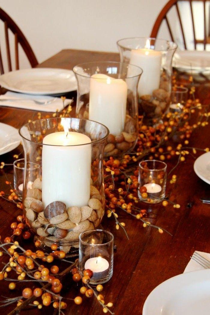 Tischdeko Herbst - 51 Vorschläge für eine herbstliche Tafel #herbstlichetischdeko