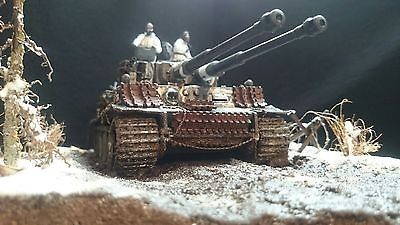 WW2 diorama built and painted. Tiger tank X prototype \