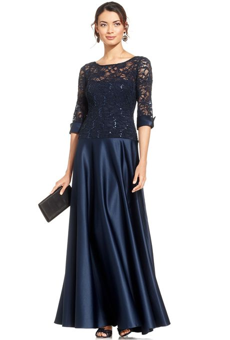 Brides Js Collections Sequin Lace Illusion Gown 179 Available At Macy S