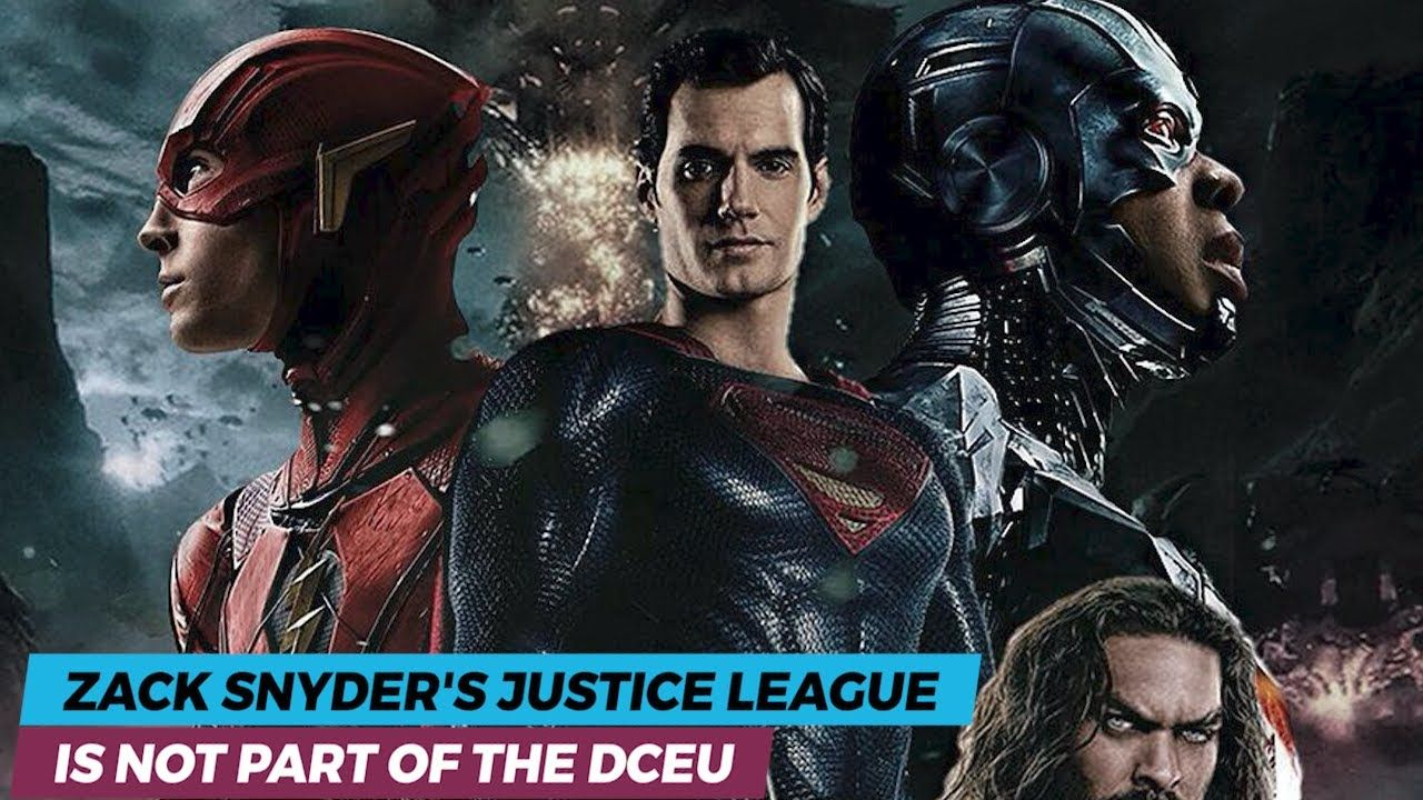 Zack Snyder S Justice League Is Not Part Of The Dceu Justice League League Justice
