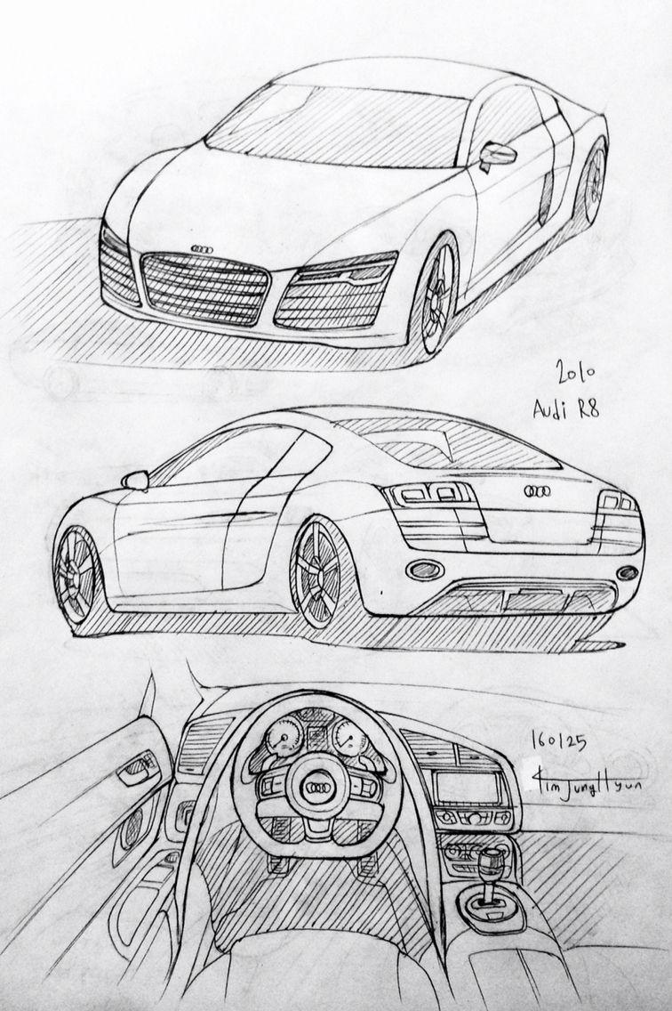 Car drawing 160125. 2010 Audi R8. Prisma on paper. Kim.J.H | cars ...