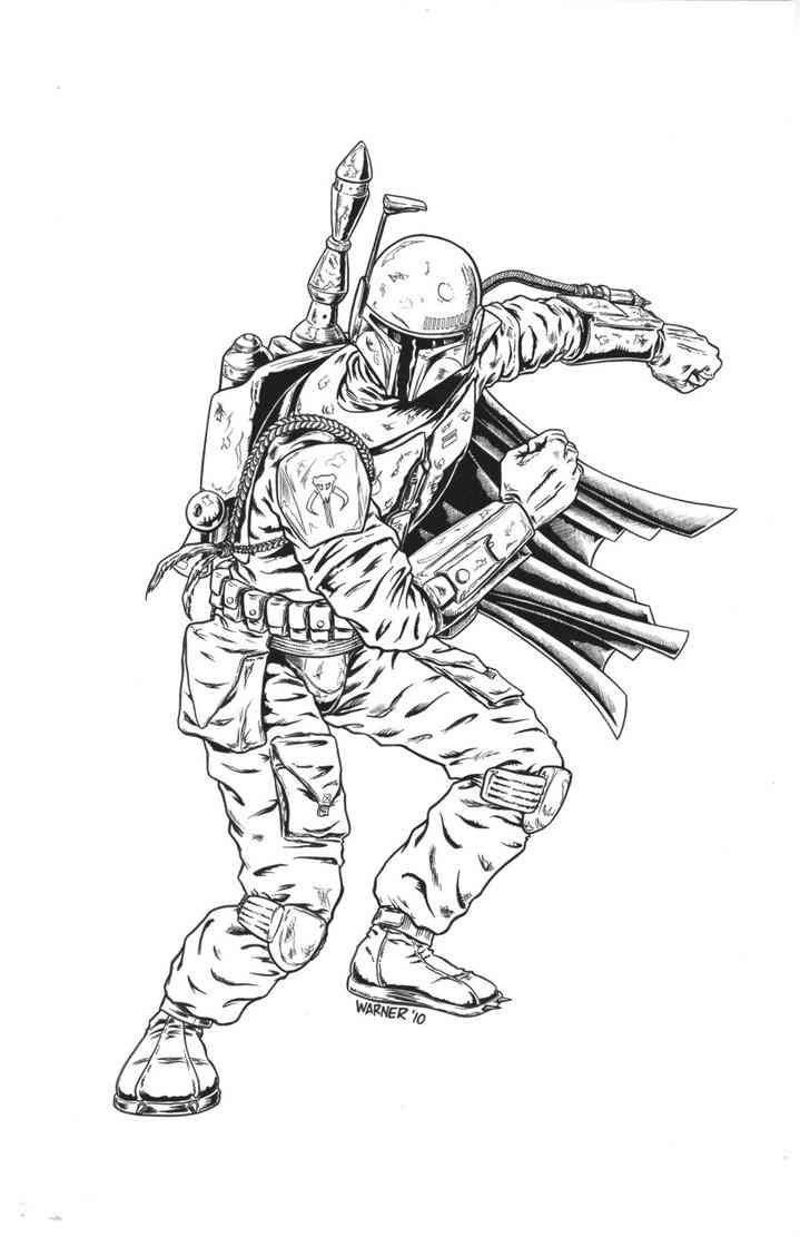 boba fett 13 coloring pages pinterest boba fett