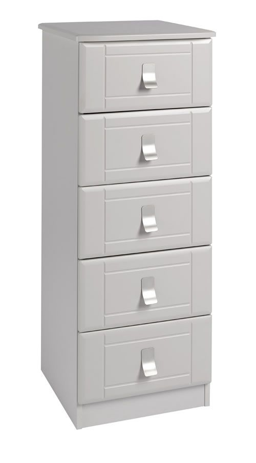 Nulito Quality Fully Assembled Cashmere Tall Boy Chest Of Drawers