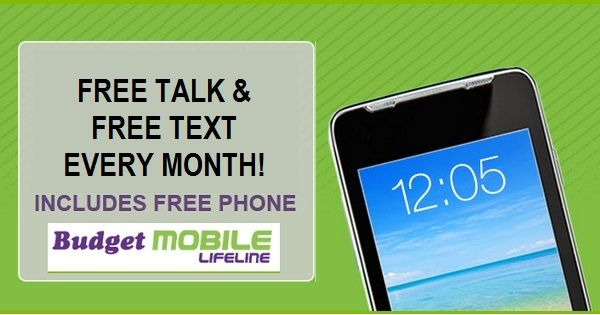 FREE cell phone, FREE minutes & FREE texts, for low income and