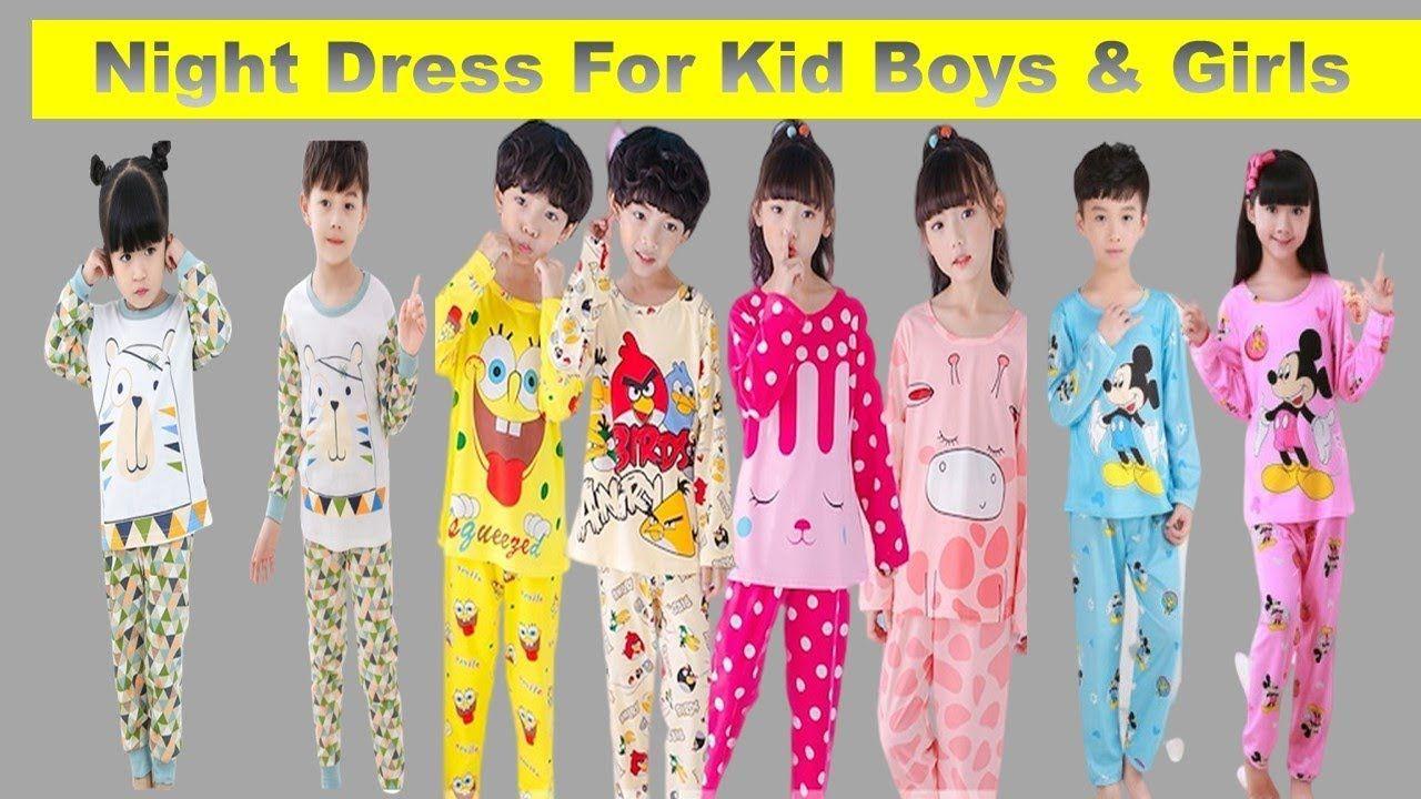 Night Dress For Kid Boys Girls Night Wear Baby Pajamas Sleepwear Girl Summer Wear Girls Night Dress Kids Sleepwear [ 720 x 1280 Pixel ]