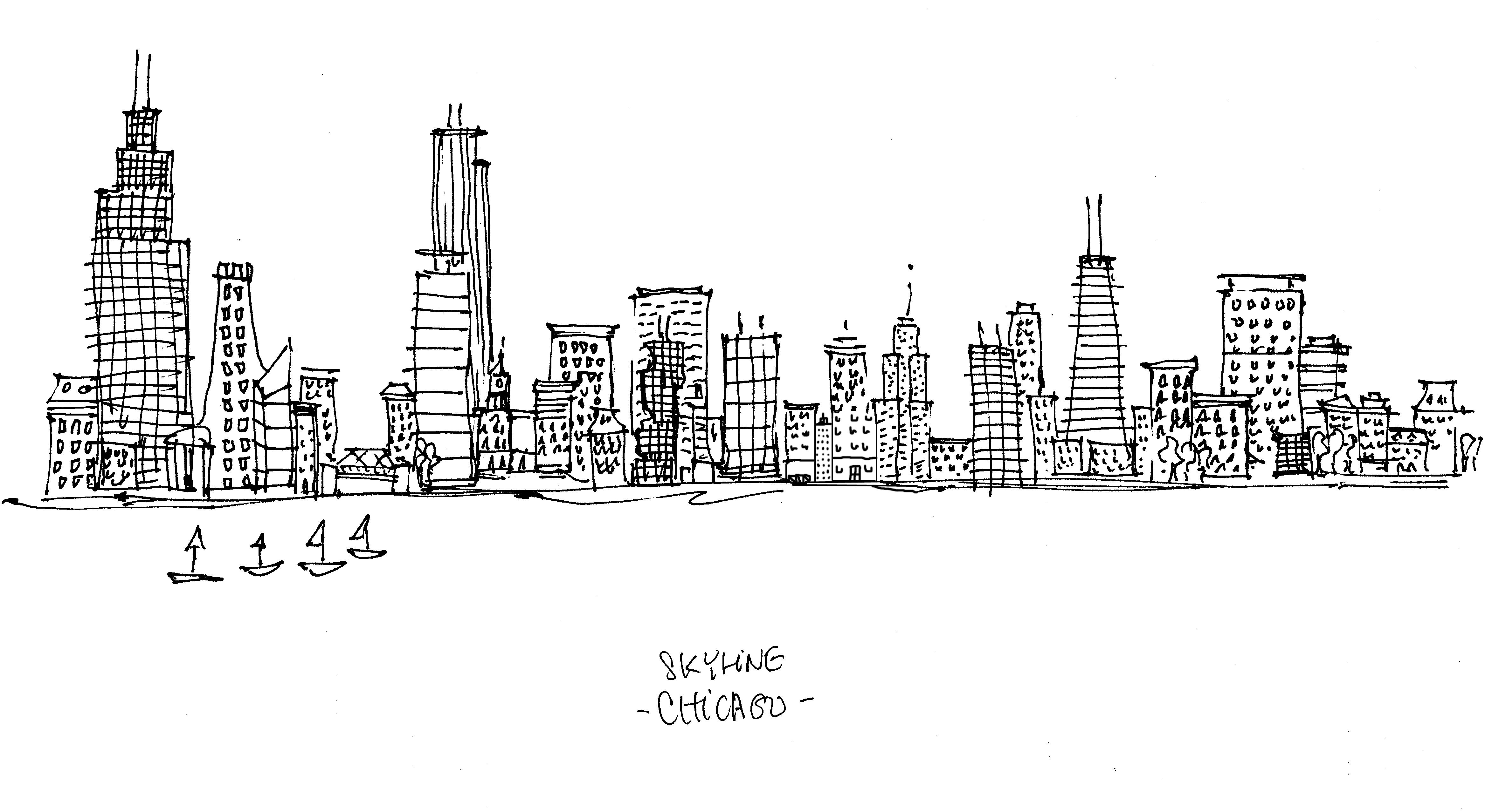 Instantly Download A Coloring Page Of The Manhattan Skyline This