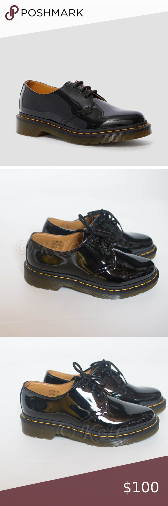 Dr Martens 1461 Patent Women S Leather Oxford 7 8 In 2020 Leather Oxfords Women Leather Oxfords Leather Women