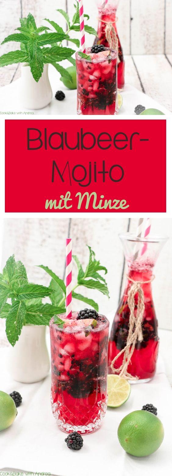 Blaubeer Mojito Mit Minze C B With Andrea Minze Minze Rezepte Mojito