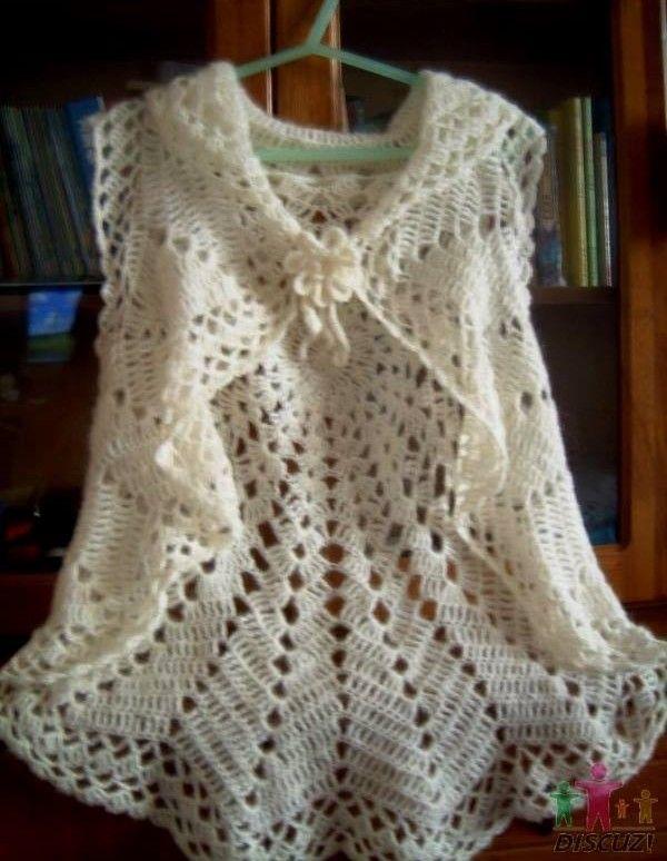 Patrones para tejer un chaleco circular a crochet | <3 ...
