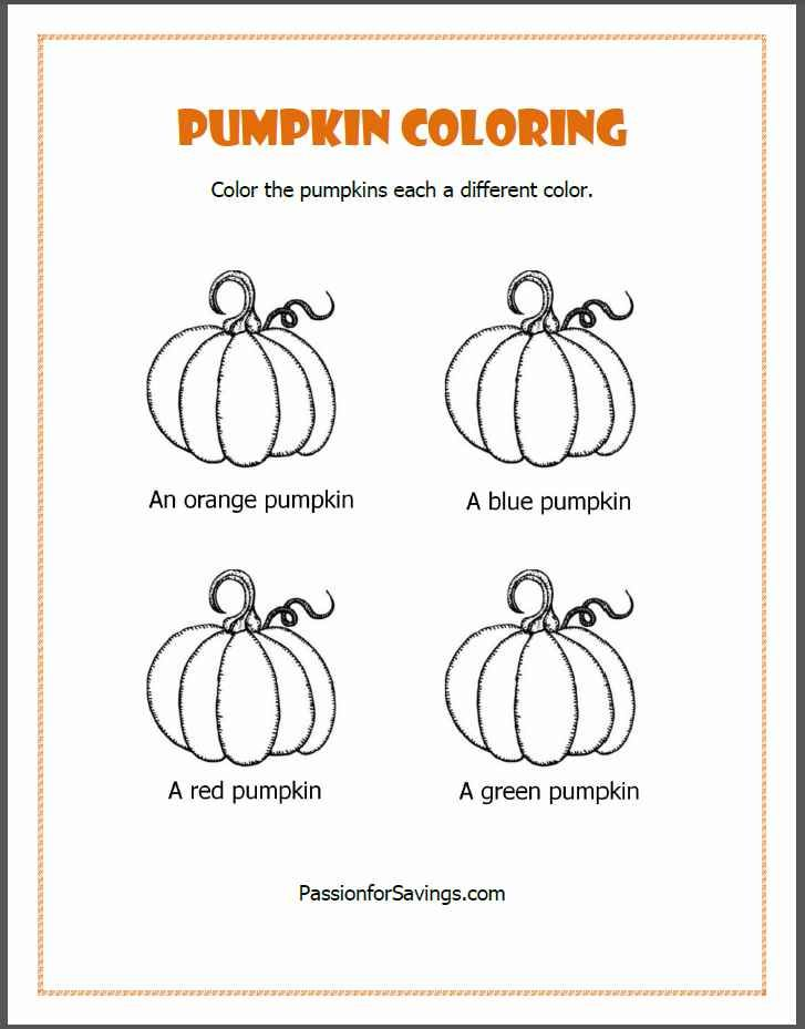 Free Fall Printables for Kids Pumpkin Coloring Pages Therapy Fun - best of fun coloring pages for fall