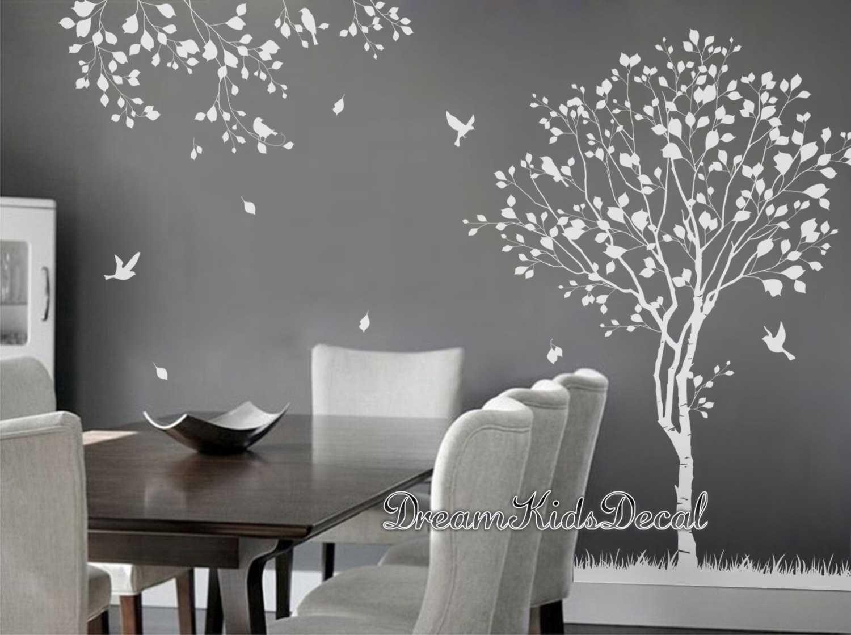Stickers Arbre Blanc Chambre Ideas Planos Imagenes Noir Hibou Bebe