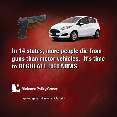 VPC - The Violence Policy Center - Gun Deaths Outpace Motor Vehicle Deaths in 14 States and the District of Columbia in 2011