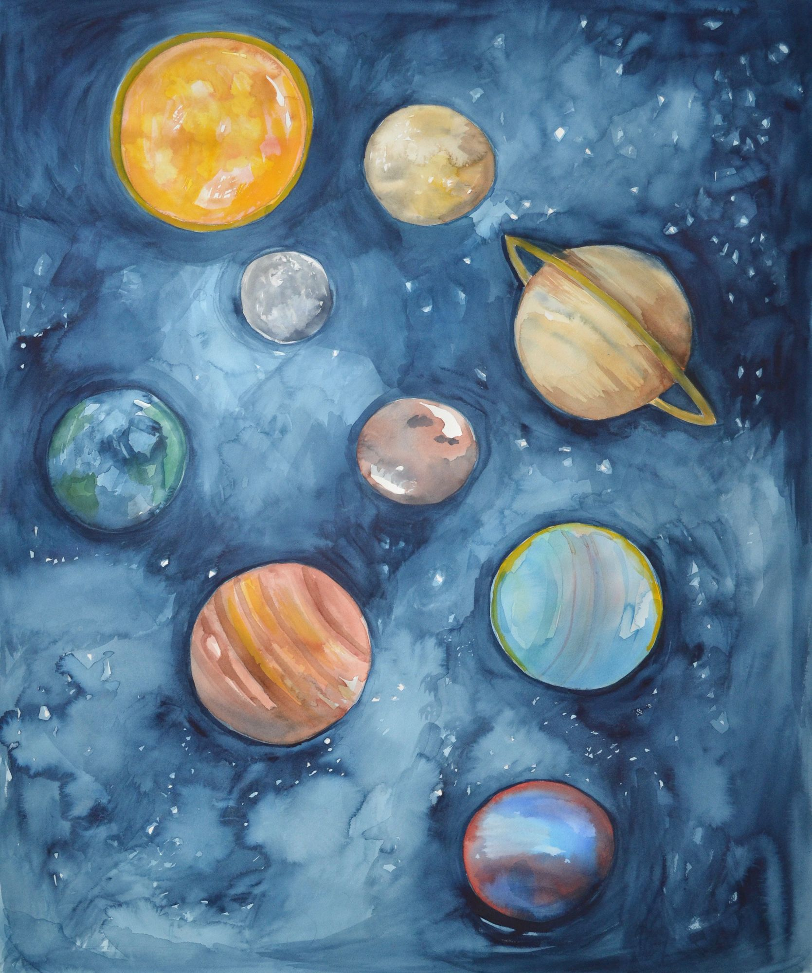 Syst 233 Me Solaire In 2020 Planet Painting Space