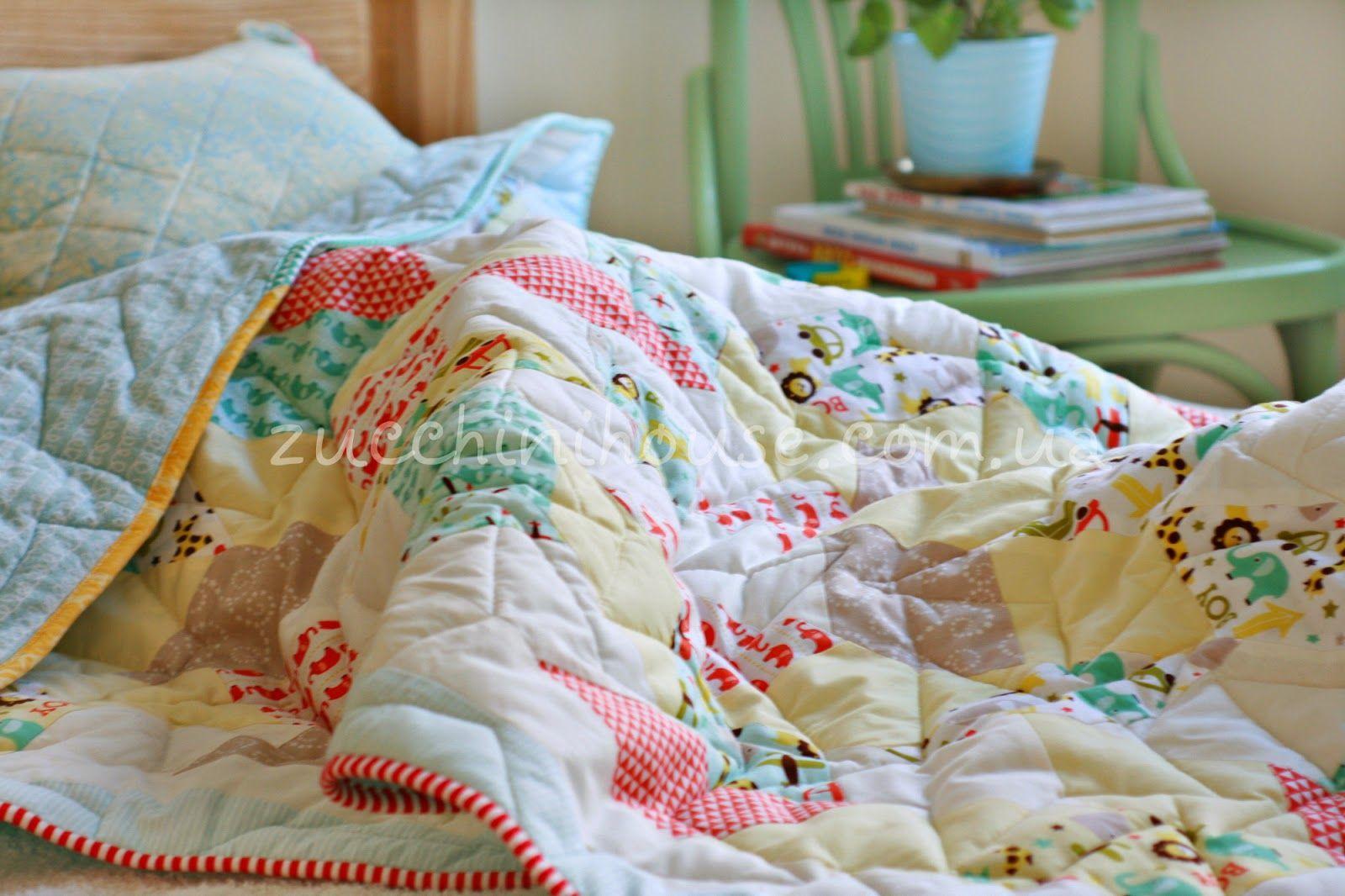 Одеяло мальчиковое / Boys quilt   Домик маленького Цукиня