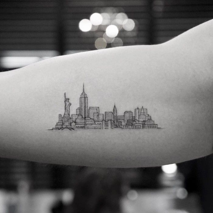 Love My New York Skyline Tattoo Inner Forearm: 40 Impressive And Amazingly Detailed Tattoos By Mr. K