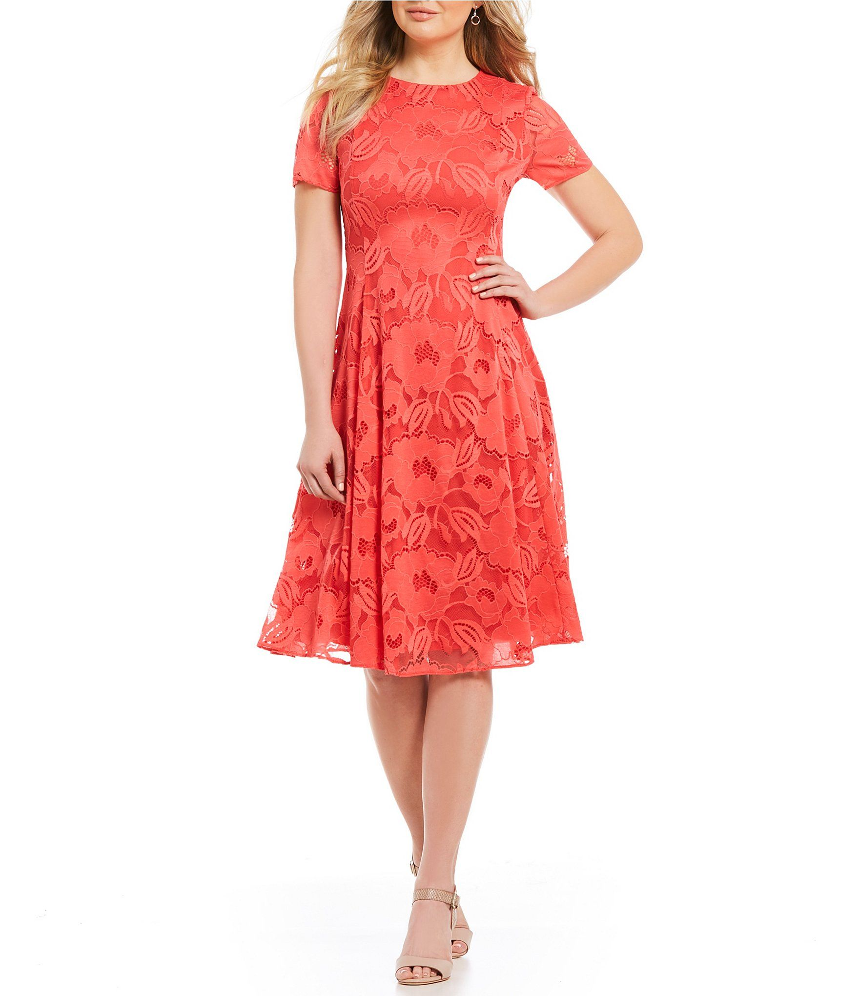 6a8b949608c Preston and York Evianna Lace Midi Dress  Dillards