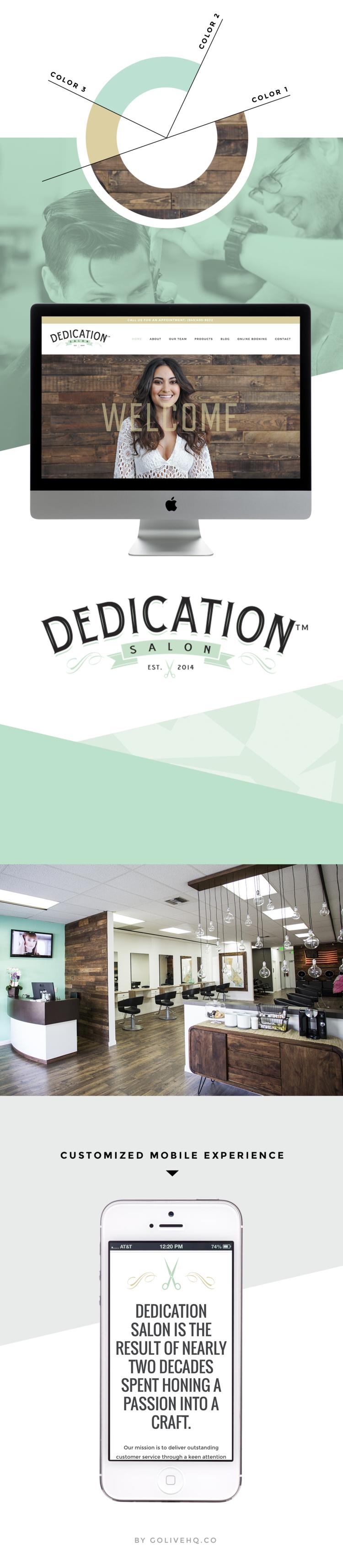 Dedication Salon Is Live Golive Squarespace Website Templates Hair Salon Website Design Salons Beauty Salon Design