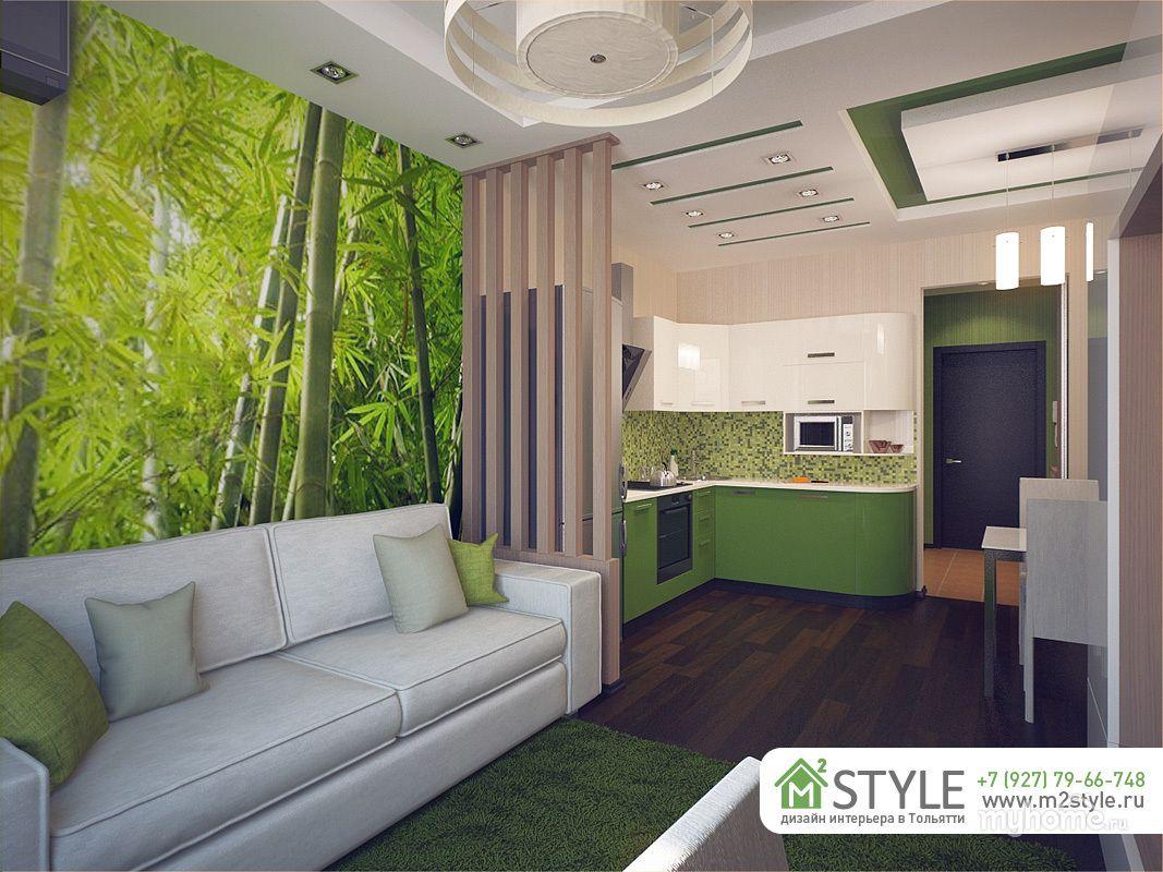 В этом дизайн-проекте было необходимо гармонично вписать кухню и гостиную зону в единое помещение. В процессе разработки были рассмотрены различные варианты цвета и способы разделения помещения на зоны, после чего был выбран один, который максимально понравился заказчикам.
