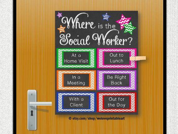 School Social Worker Gift Social Work Door Decoration Social