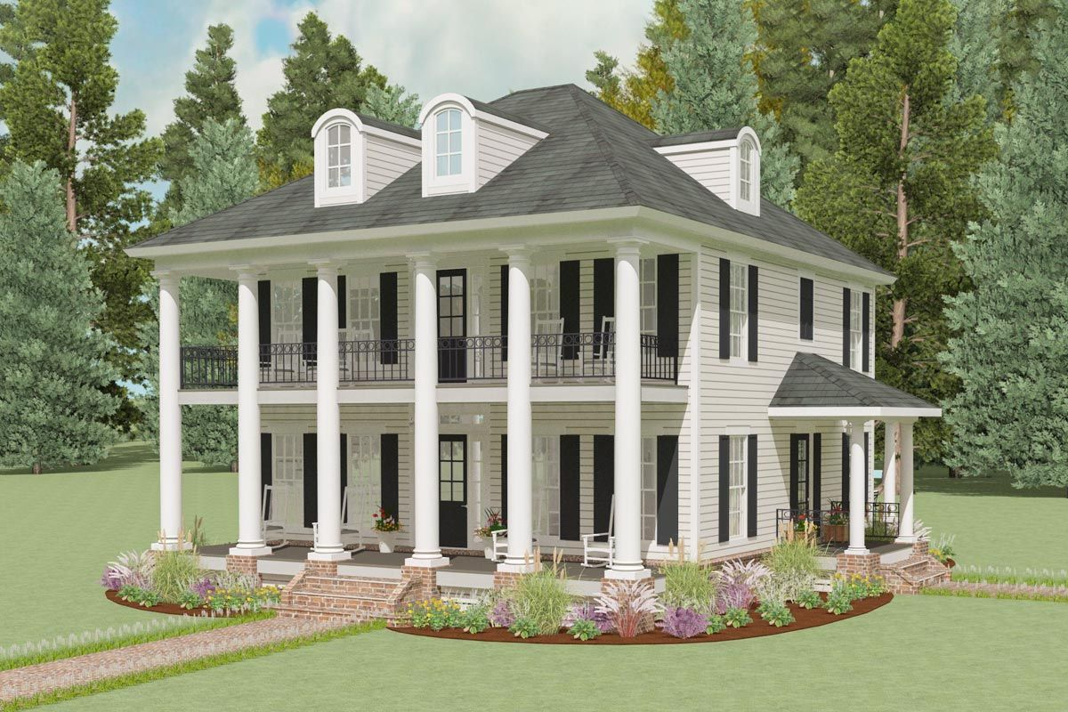 Exclusive mini plantation house plan lls architectural designs plans also in dream rh pinterest