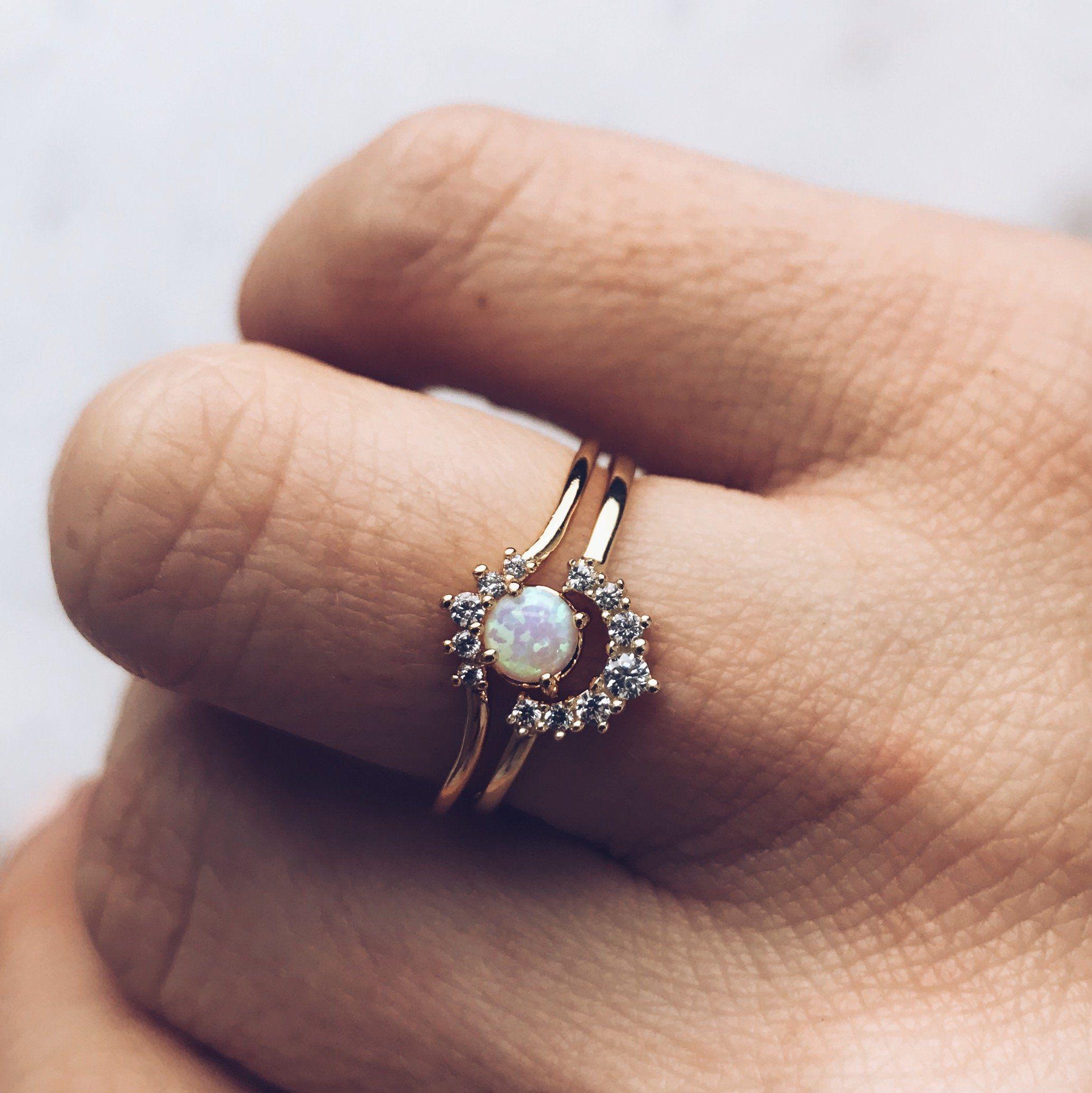 Tai Jewelry Stacked Teardrop Ring Clear 7 w7cxZ