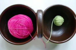 Keramik Basket for different colors of yarn...