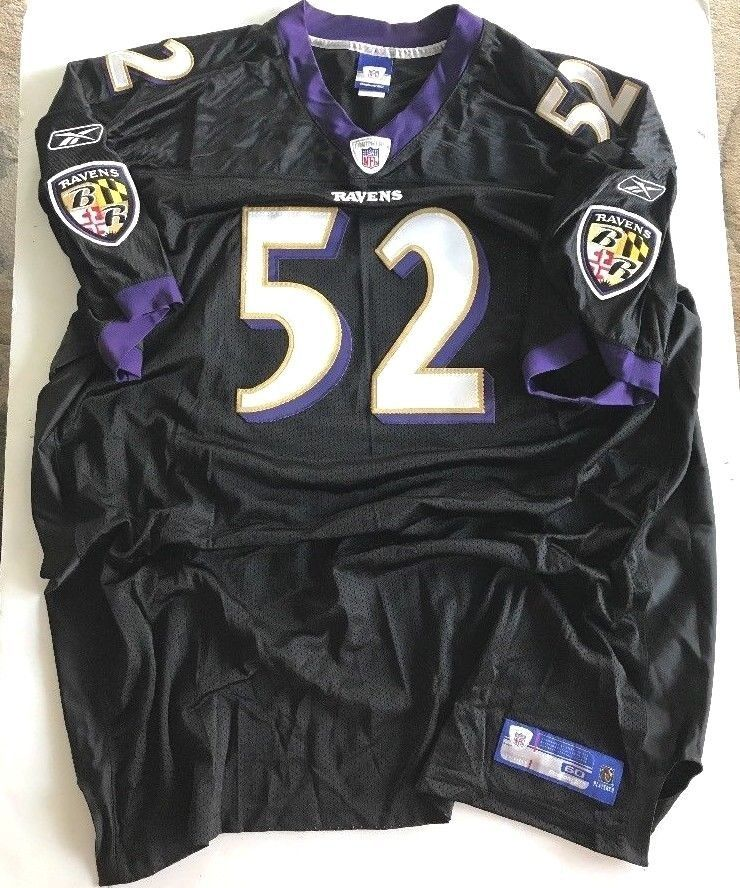 check out e1cfc 6b73f Details about #52 RAY LEWIS BALTIMORE RAVENS HOF PURPLE NFL ...