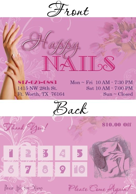 Nails Business Cards Design | uñas | Pinterest | Business cards