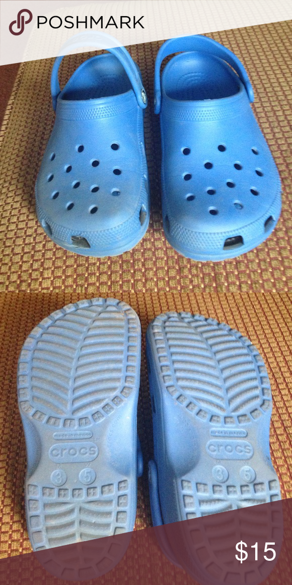 Gently used crocs Blue crocs used a few times men's size 3 women's size 5 crocs Shoes Mules & Clogs