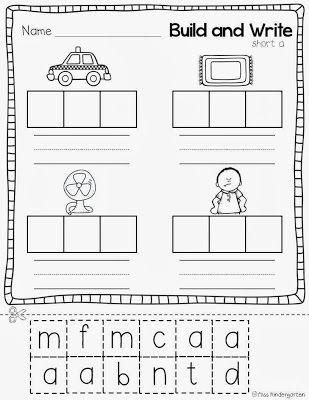 Super Cvc Practice Miss Kindergarten Kindergarten Worksheets Printable Kindergarten Lesson Plans Word Work Kindergarten