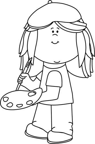 artist coloring page childcare art pinterest artist childcare rh pinterest com Esle Artist with Black and White Clip Art Esle Artist with Black and White Clip Art
