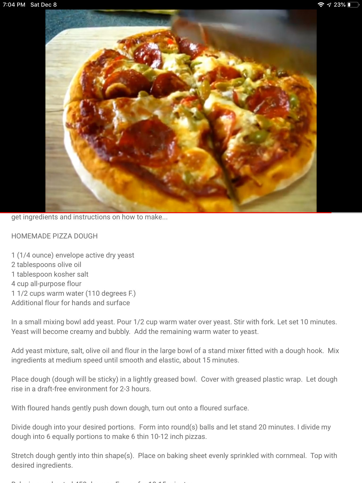 Pin By Sherry Sequeira On Pizza Ideas Food Dry Yeast Pizza Dough