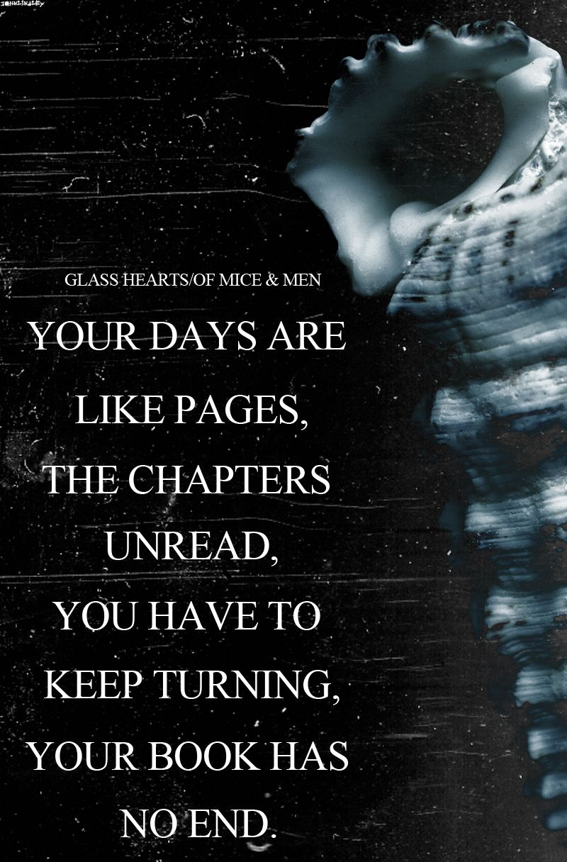 Quotes From Of Mice And Men Custom Your Days Are Like Pages The Chapters Unread…  Of Mice …