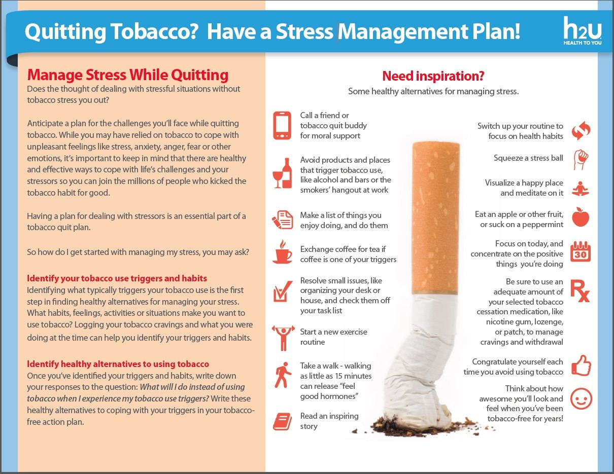 Quitting Tobacco Have A Stress Management Plan