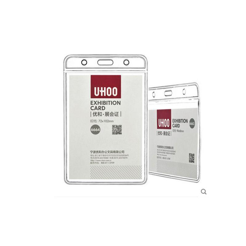Grande Taille PVC Souple Titulaire De La Carte Dexposition ID Visite Transparent Etanche Porte Badge Fournitures Bureau