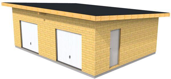 garage n bois type ossature bois garage Pinterest